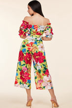 Load image into Gallery viewer, Tropical Off-Shoulder Jumpsuit
