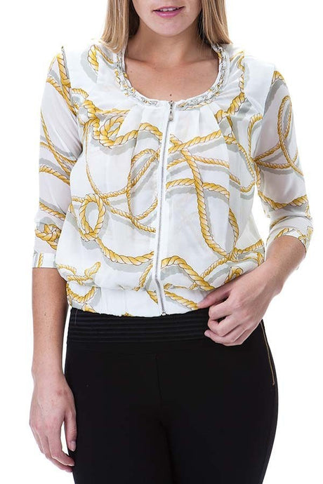 Jacket-Top with Chain Detail