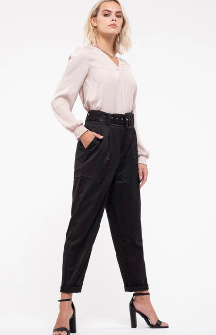 Pleated Woven Pants