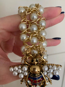 Pearls and Bee Bracelet