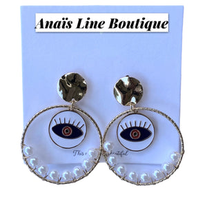 Circle Eyes Earring