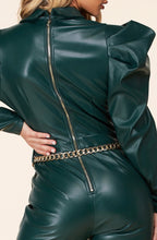 Load image into Gallery viewer, Sara Leather Jumpsuit