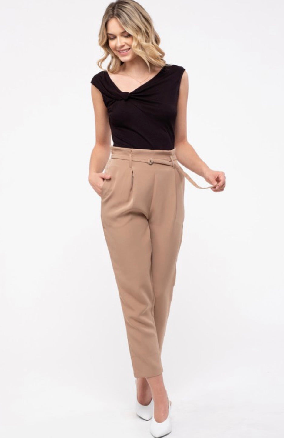 Paper Bag D-Ring Pants