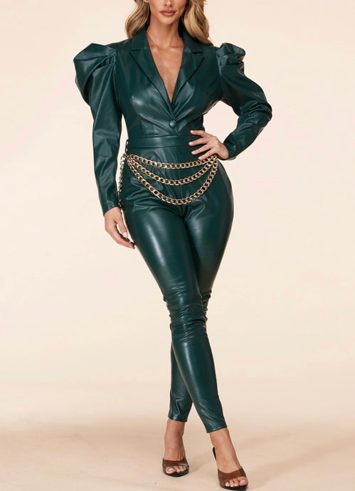 Sara Leather Jumpsuit