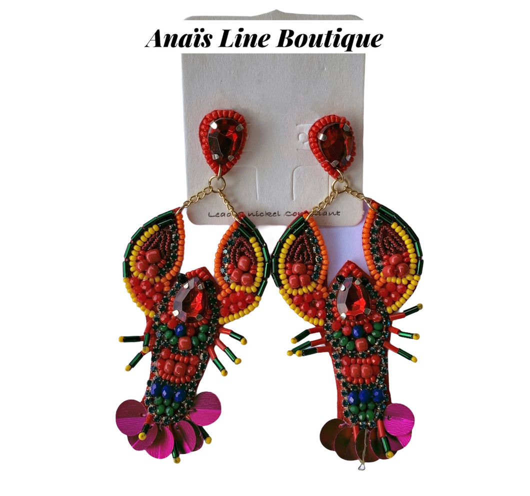 Lobster Colorfull Earrings