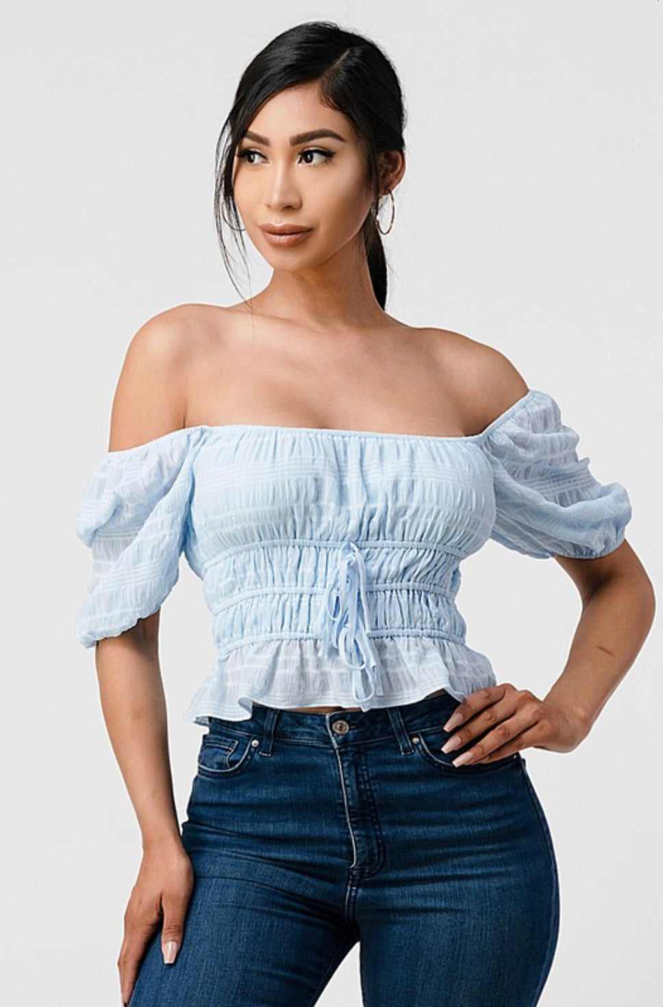 Eleanor Light Blue Blouse