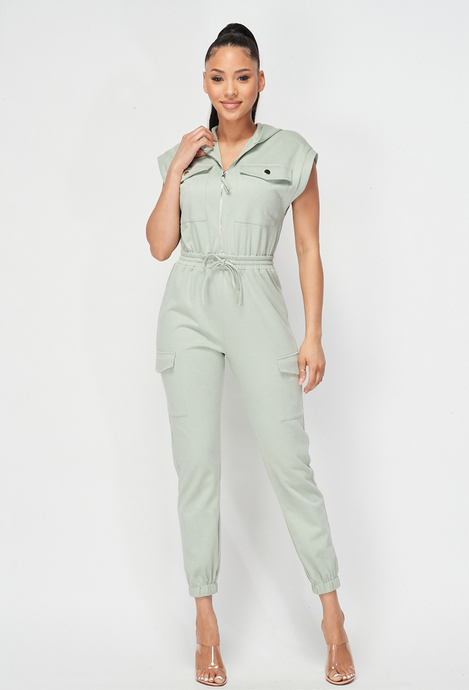 Belen Green Jumpsuit