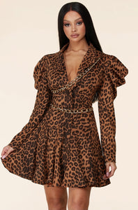 Veronica Animal Print Dress