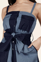 Load image into Gallery viewer, Clarisa Denim Patchwork Romper