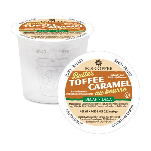 BUTTER TOFFEE DECAF COFFEE K-POD - 24CT