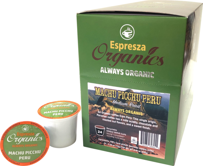 ORGANIC MACHU PICCHU PERU COFFEE K-POD - 24CT