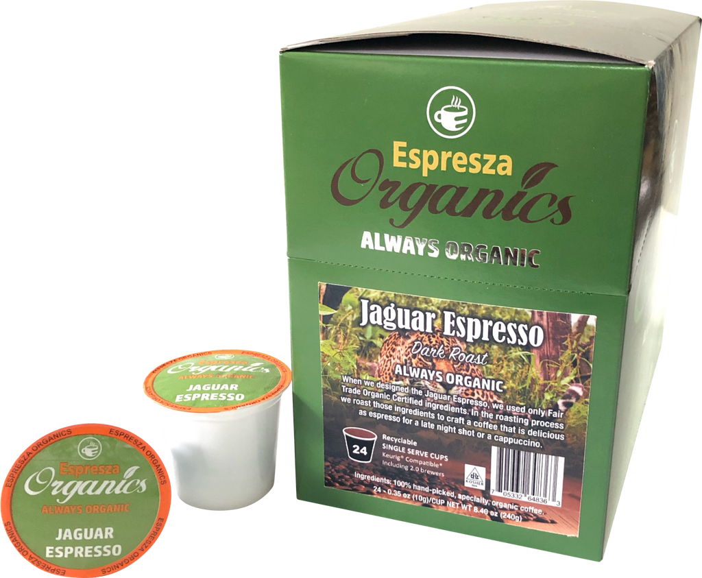 ORGANIC JAGUAR ESPRESSO COFFEE KPOPD - 24CT
