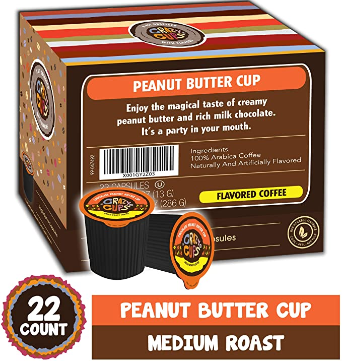 CHOCOLATE PEANUT BUTTER CUP COFFEE K-POD - 22CT