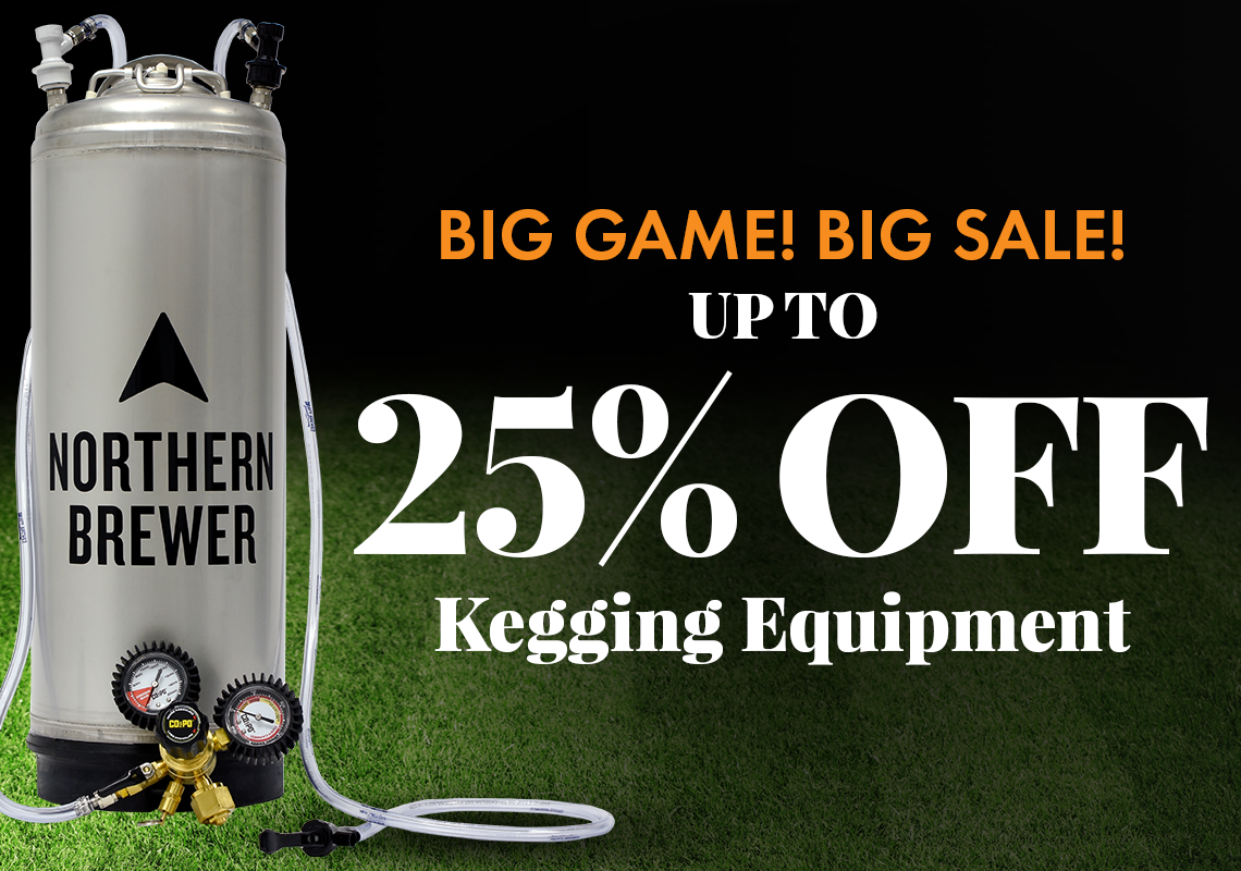 Up to 25% Off Kegging Equipment