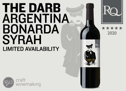 RQ20 The Darb - Argentina Bonarda Syrah Wine Kit Limited Release