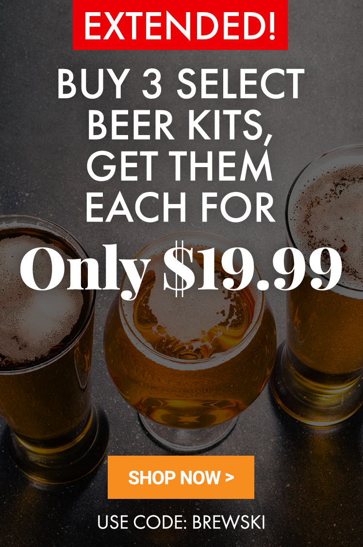 3 Beer Kits for $19.99 Each When You Buy 3