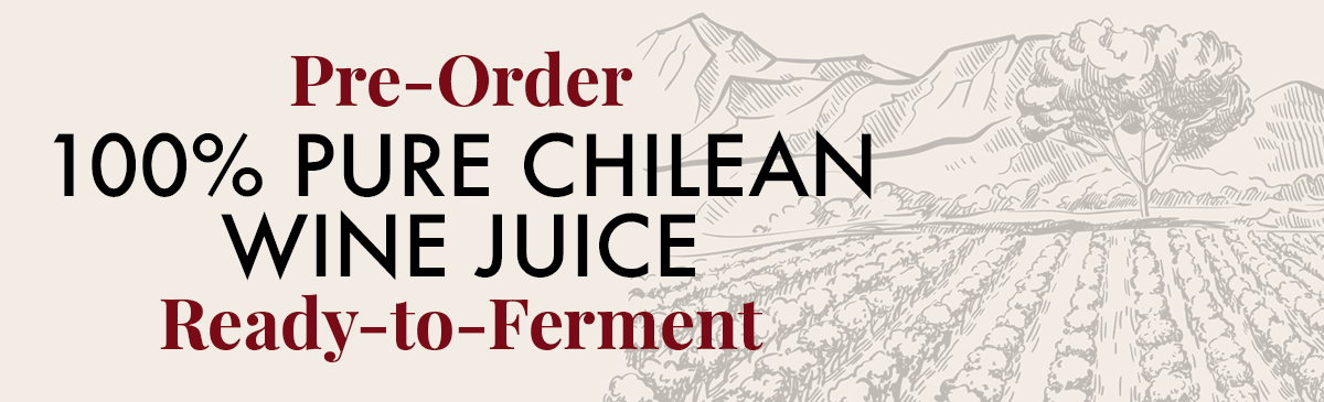 100% Fresh Wine Must from Chile. Pre-Order today. Pickup in-store at St. Louis Park Location