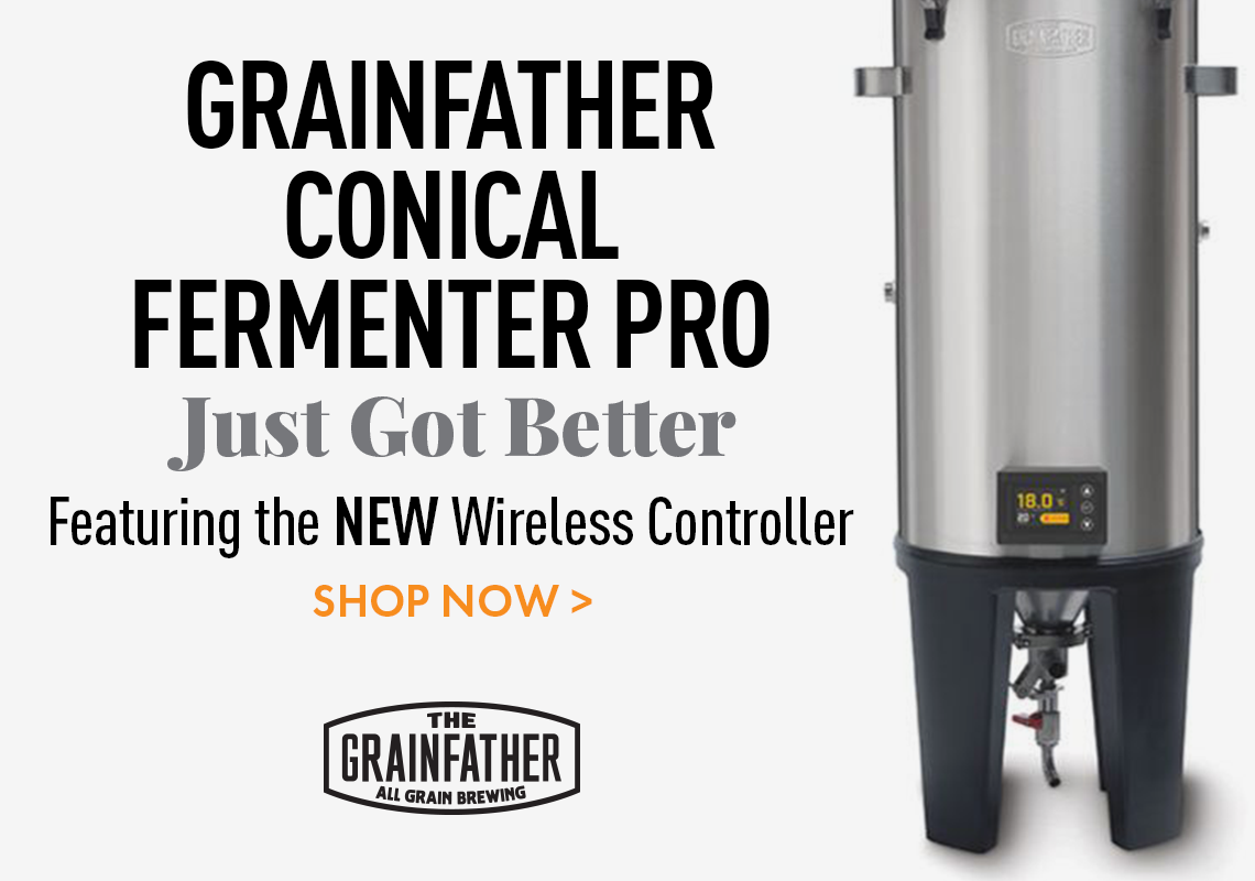 Grainfather Conical Fermenter Pro Edition featuring the NEW Wireless Controller