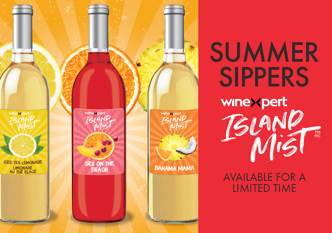 Summer Sippers from Winexpert Island Mist. Available for a Limited Time!