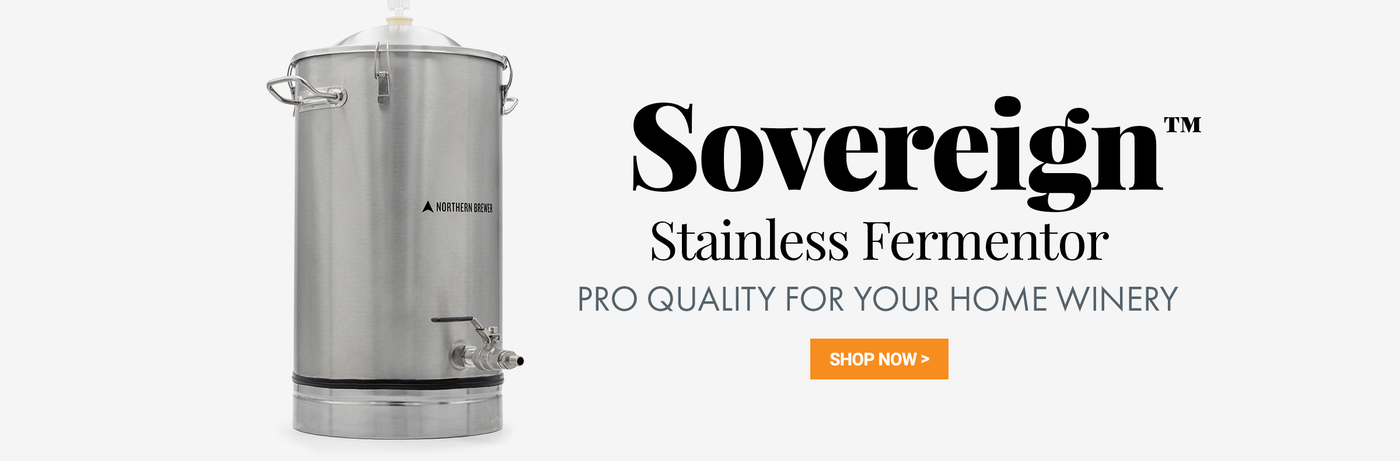 Sovereign Stainless Steel Fermenter for Wine OR Beer