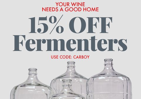15% Off Fermenters. Use code CARBOY at checkout.