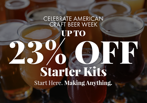 Up to 23% Off Beer Starter kits. Celebrate American Craft Beer Week