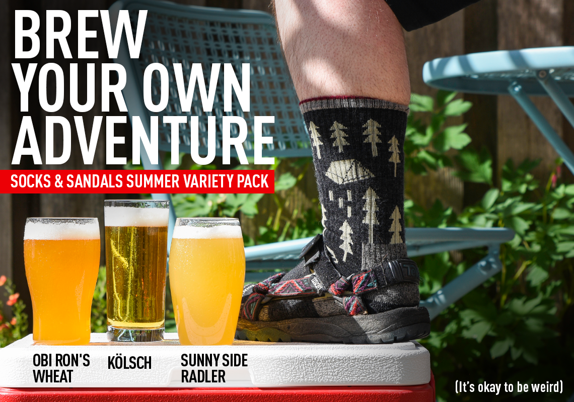 Brew Your Own Adventure. Socks & Sandals Summer Variety Pack