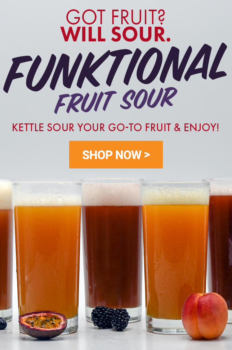 Got fruit? Will Sour. New Functional Fruit Sour Beer Recipe Kit