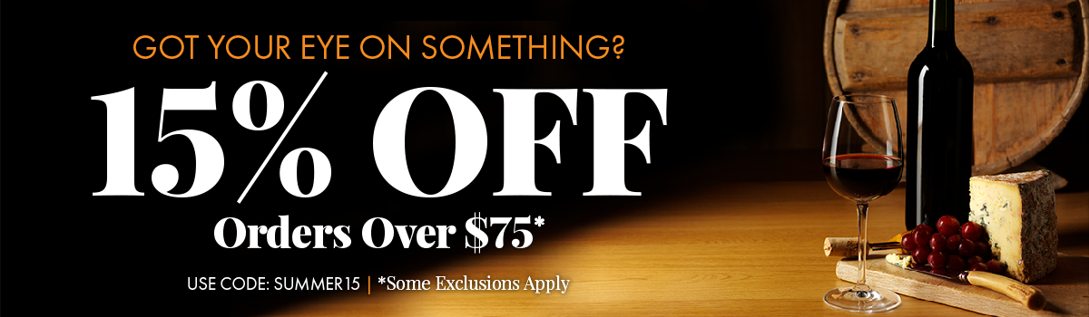 Save 15% On Orders Over $75. Use code SUMMER15