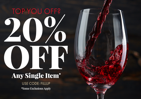 Top you off? 20% off any single item. Use code FILLUP at checkout. Some exclusions apply.