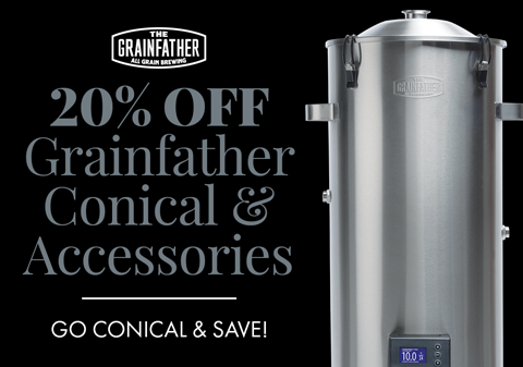 20% Off Grainfather Conical & Accessories