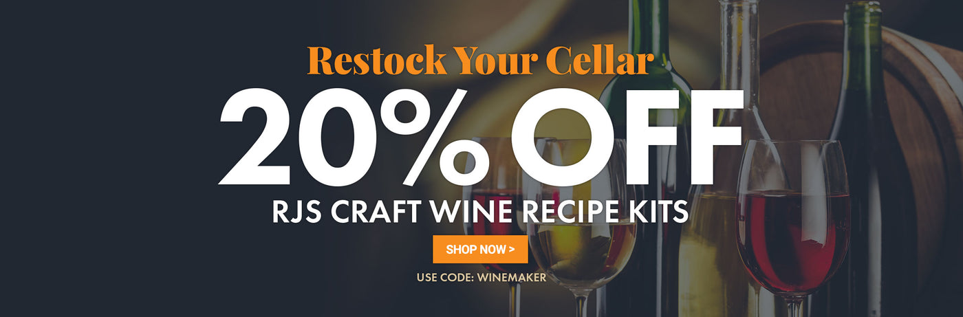 20% Off All RJS Wine Recipe Kits