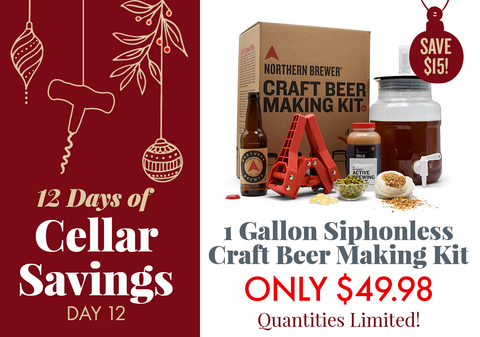 Save $15 on our 1 Gallon Craft Beer Making Kit with Siphonless Fermenter