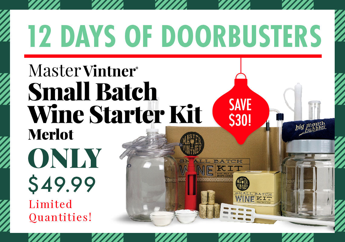 Small Batch Wine Starter Kit (Merlot Only) for $49.99