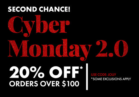 20% Off Orders Over $100. Use Code: JOLLY