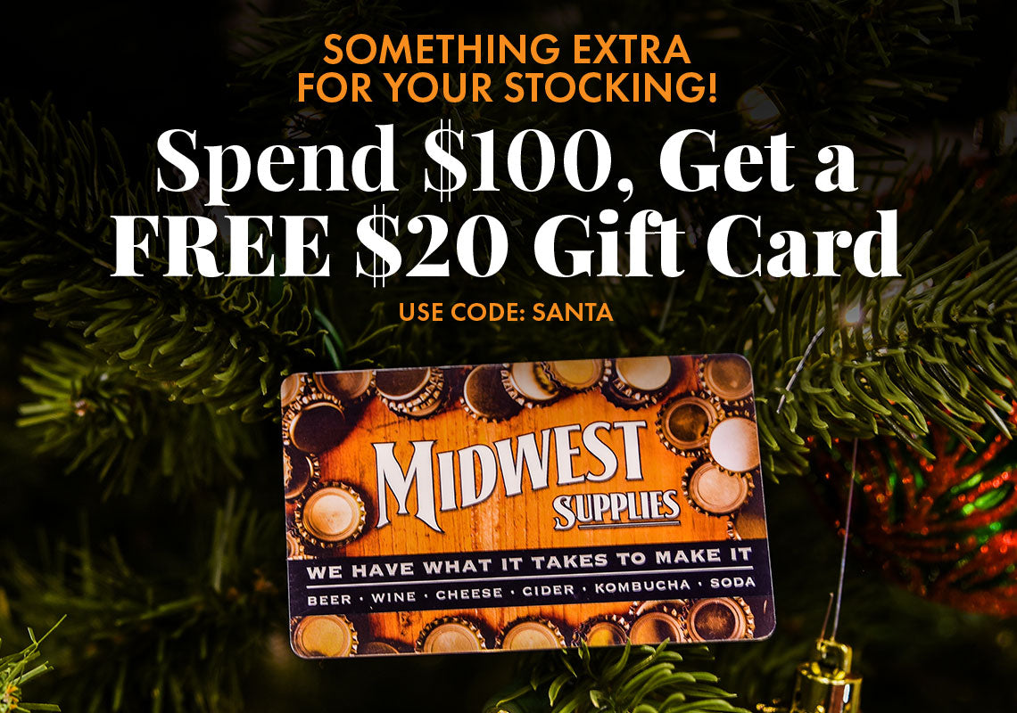 Spend $100 Get a Free $20 Gift Card. Use Code: SANTA