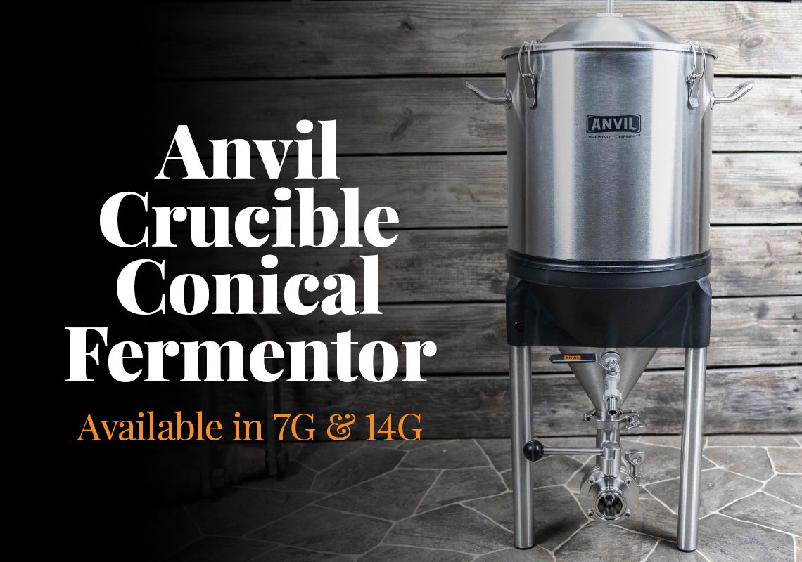 Anvil Crucible Conical Fermentor Available Now!
