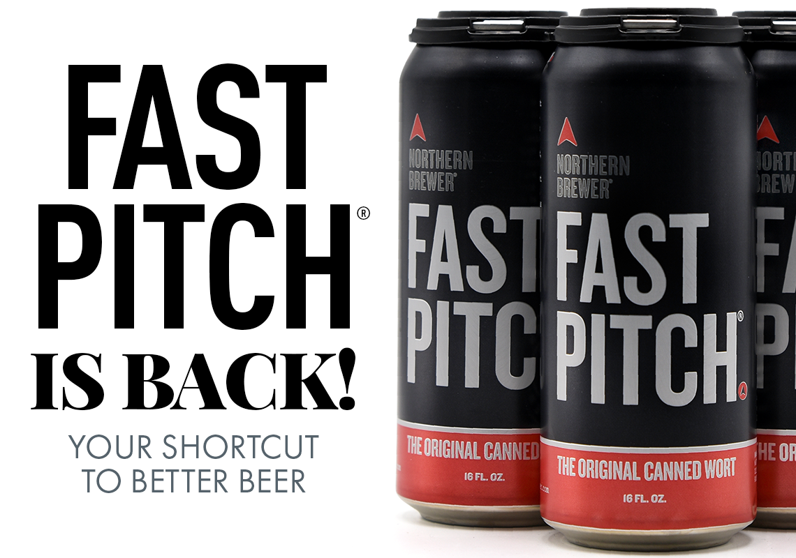 Fast Pitch is Back! Your shortcut to healthier fermentations and ultimately better beer!