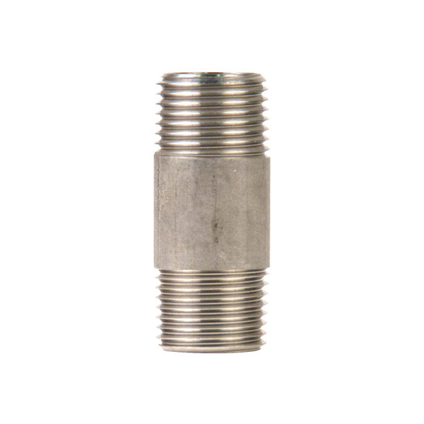 1/2-inch MPT by 2-inch Threaded Male to Male Connector