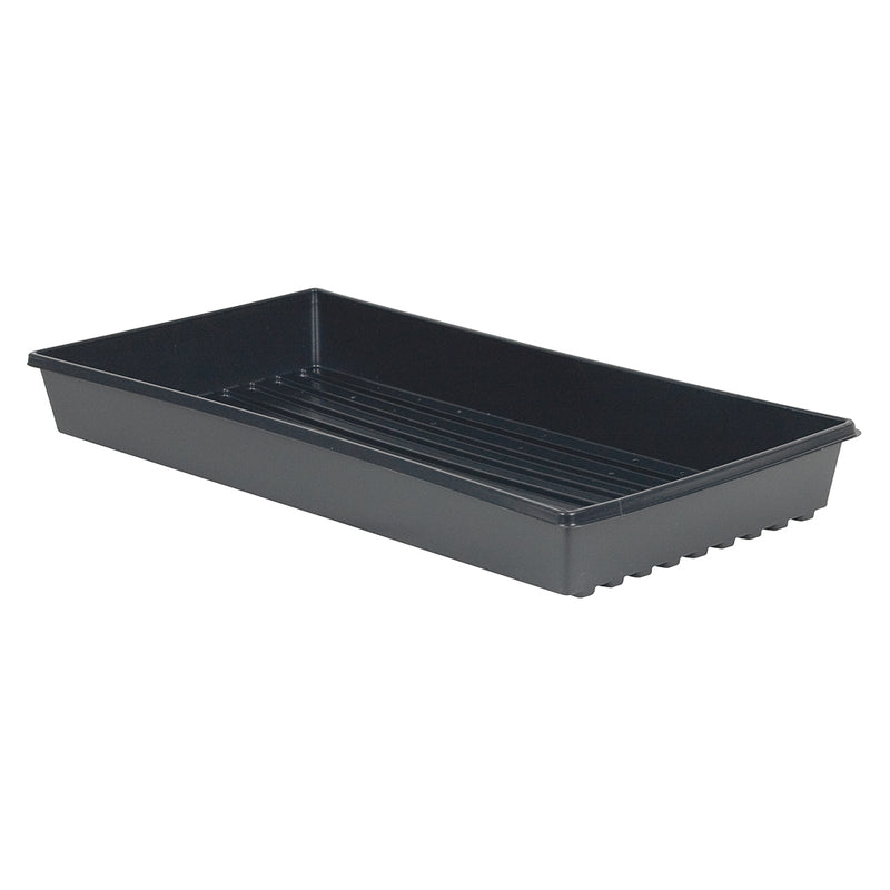 "Black Propagation Tray 10"" x 20"", without Holes"