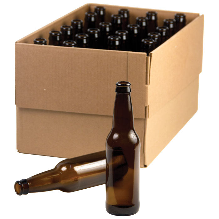 12 oz Beer Bottles -  Amber Glass - Case of 24