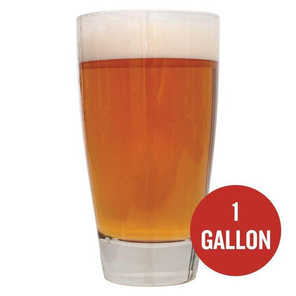"Sierra Madre Pale Ale in a drinking glass with ""1-gallon"" written in a red circle"