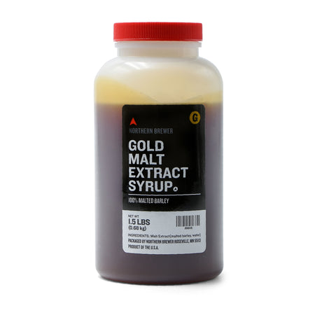 Gold Malt Extract Syrup 1.5 lb container