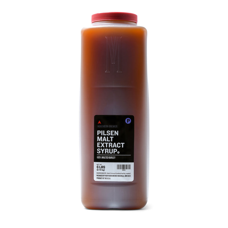 Pilsen Malt Extract Syrup in a 6-pound container