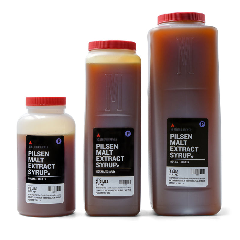 Pilsen Malt Extract Syrup in 1.5, 3.15, and 6-pound containers
