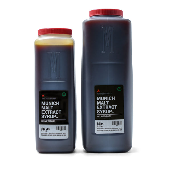 Munich Malt Extract Syrup in 3.15 and 6-pound containers