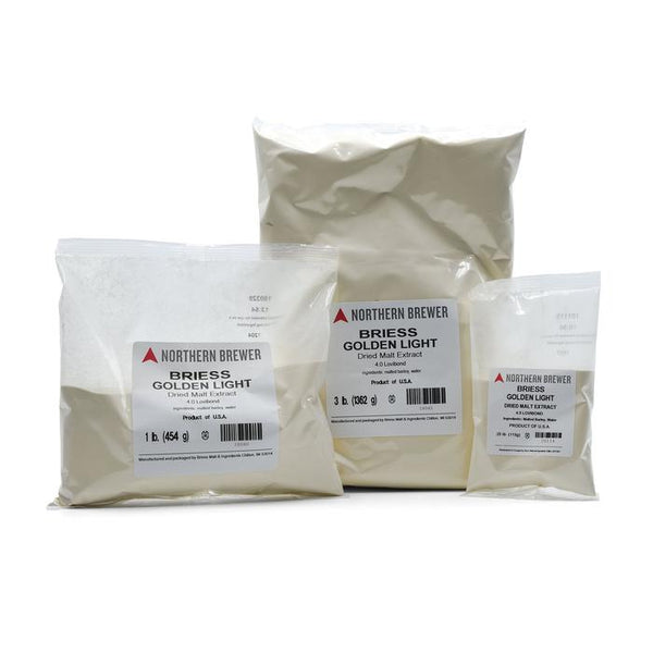 Golden Light Briess Dry Malt Extract (Dme) in three different sizes