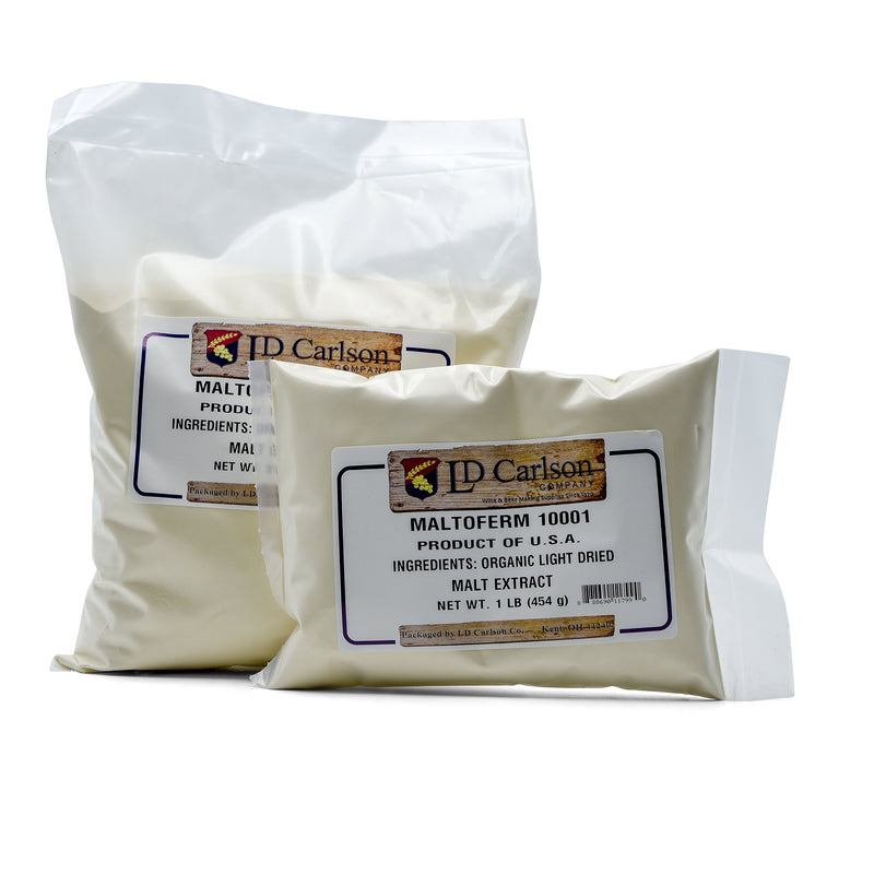 Two bags of Briess Organic Light DME