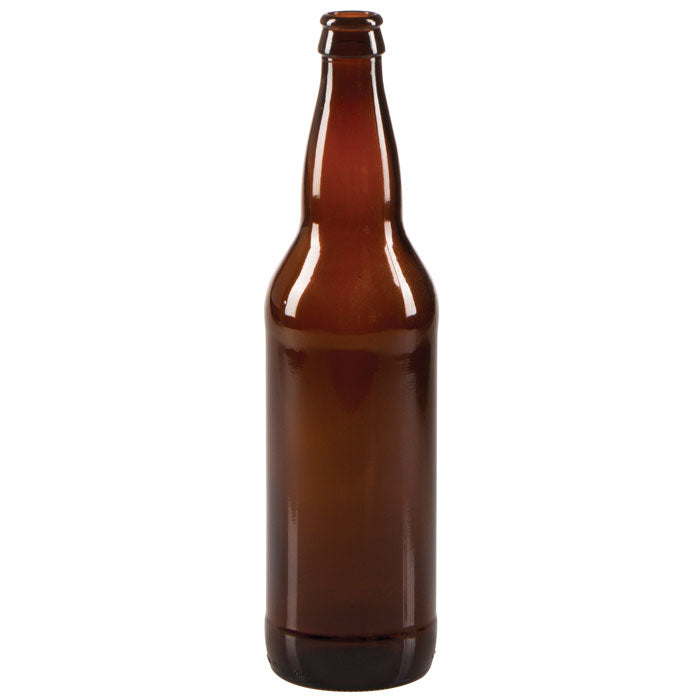 22 oz Beer Bottles  - Amber Glass - Case of 12
