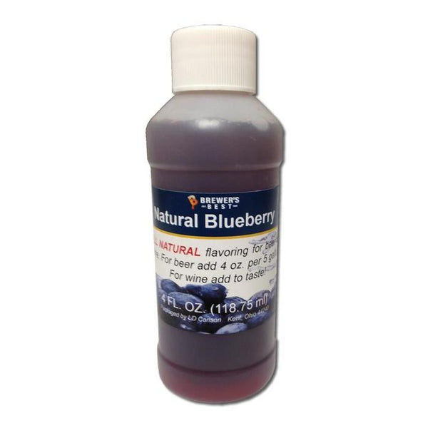 Natural Blueberry Flavor Extract in a 4-ounce container